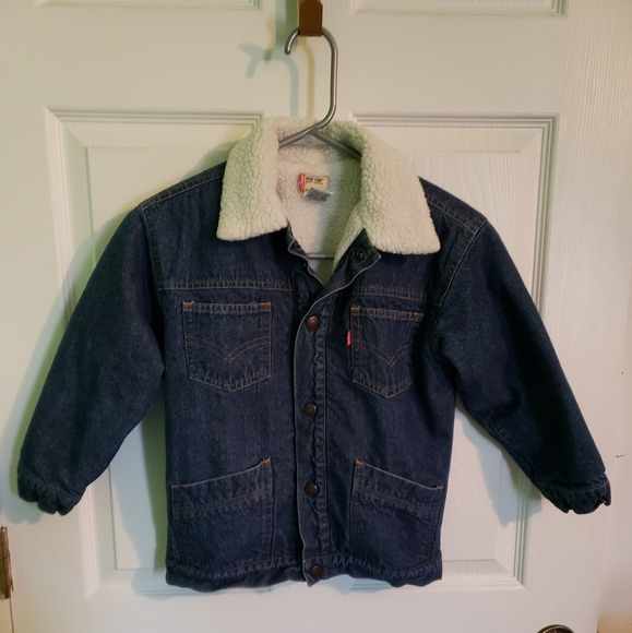 Levi's Red Tab Denim Coat size 7